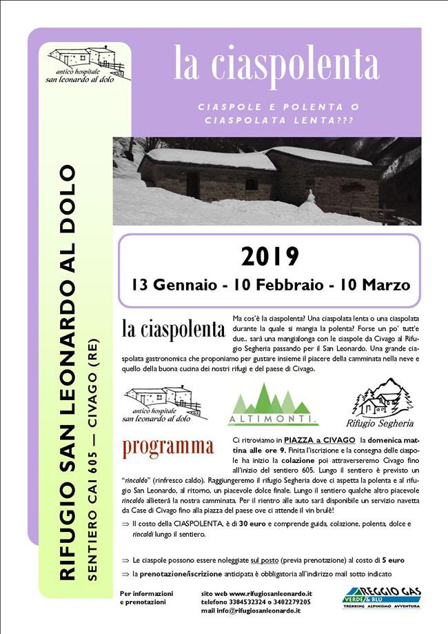 Ciaspolenta 2019