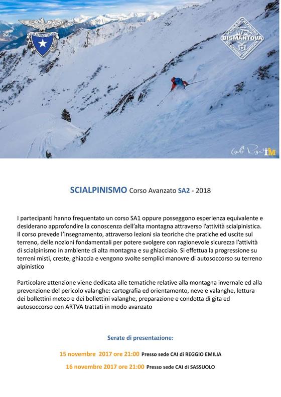 Corso SA2 2018